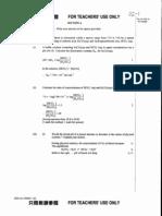 2002 AL Chemistry Paper 1+2 Marking Scheme