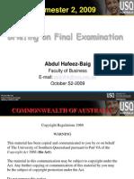 AHBaig Exam Briefing Part a B C