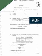 1996 AL Chemistry Marking Scheme