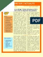 Qui va diriger l'Union africaine en 2012