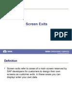 Screen Exits