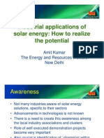 S9 Amit Kumar (TERI) - Industrial Applications of Solar Energy