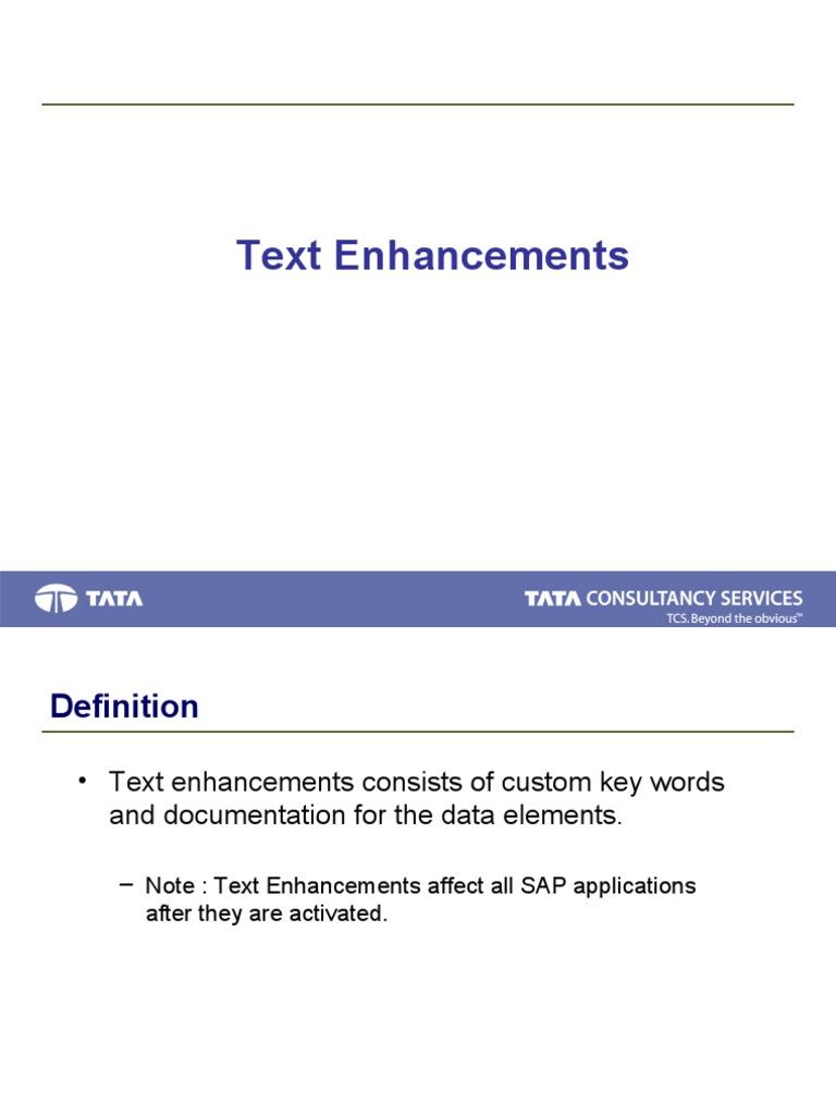 text enhancement