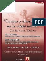 CARTEL DEBATE LATOUCHE/RODRIGO, 20 OCTUBRE EN MADRID