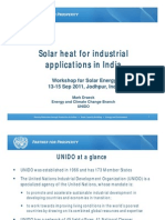 S9 Mark Draeck (UNIDO) - Solar Heat for Industrial Applications