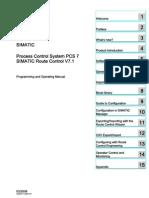 SIMATIC Process Control System PCS 7 SIMATIC Route Control V7.1 Rchelp_b_en-US