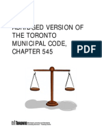 Abridged Version of the Municipal Code Chapter 545