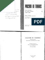 Meinvielle Julio - Prólogo de la Carta Encíclica de Juan XIII PACEM IN TERRIS