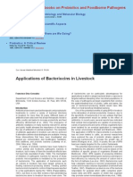 Applications of Bacteriocins in Livestock