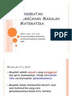 Pendekatan Pemecahan Masalah Matematika SD Al Jupri