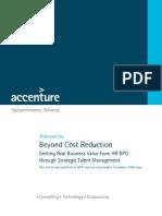 182Accenture HR BPO Beyond Cost Reduction POV