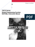 cnc mitsubishi serie700 70 handbook switch cartesian coordinate