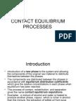 Contact Equilibrium Processes
