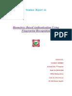 FINGERPRINT BIOMETRICS Seminar Report