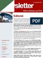 Newsletter T&P N°51 Eng