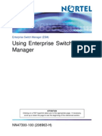 Using Enterprise Switch