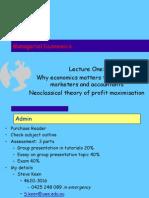 Managerial Economics Lecture Introduction
