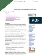sécurisation des controleurs de domaine W 2003