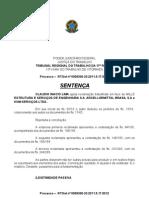 sentença improcedente Claudio Inacio Lima x KNM