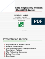 LAGUA Proportionate Regulatory Policies for the MSME Secto