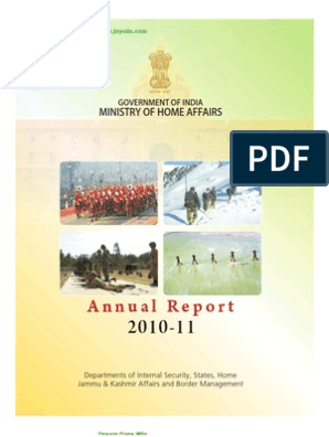 2010 2011 Annual Report of Ministry of Home Affairs