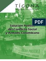 Revista Antígona No.8 Solución Política del Conflicto Social y Armado Colombiano
