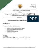 Lab Sheet 1 CS203