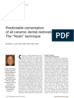 Predictable Cement at Ion of All Ceramic Restoration