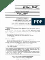 STPM Chemistry 2000 - Paper 1