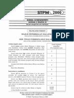 STPM Chemistry 2000 - Paper 2