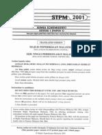 STPM Chemistry 2001 - Paper 1