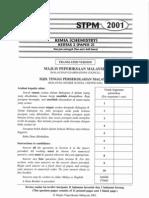 STPM Chemistry 2001 - Paper 2