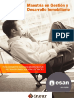 Maestría en Gestión y Desarrollo Inmobiliario 2011