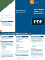 Job Evaluation System (JES) Info Book