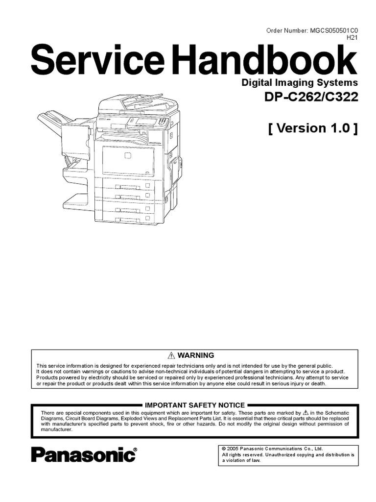 Sp C262 Service Mode