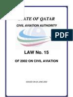 Civil Aviation Law No 15[3]