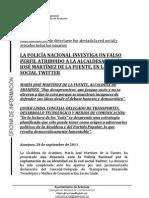 El Twitter falso de María José Martínez
