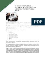 Aspectos Que Deben Cumplir Las Asociaciones Civiles de Guatemala
