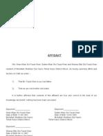 Affidavit for Work