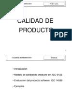 Calidad de Producto