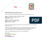 futsal conversion course advert north wales