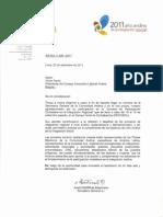 Carta de Agradecimiento - Victor Pardo