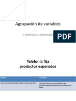Variables y Productos Esperados
