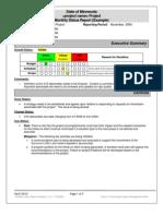 Status Report Example 021606110036 Status Report-Example