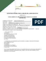 Estrategia Integral Para El Logro Educativo (Reporte)
