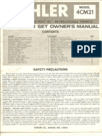 Kohler 4CM21 Service Manual