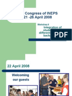 20th Congress of INEPS Workshop 6