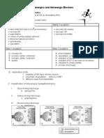 Adrenergics & Adrenergic Blockers
