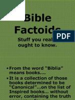 Bible Factoids
