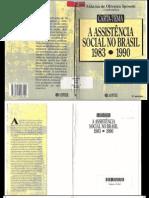 A Assistência Social no Brasil 1983-1990 Carta Tema-Aldaíza de Oliveira Sposati 2ª. Edição